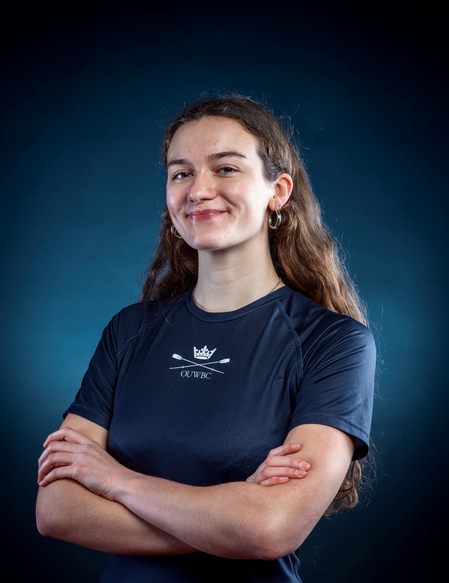 Martha Birtles in her University of Oxford rowing kit