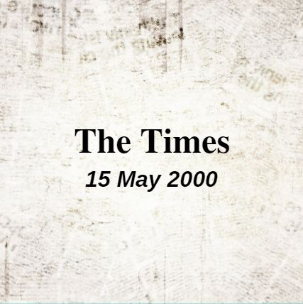 The Times, 15 May 2000