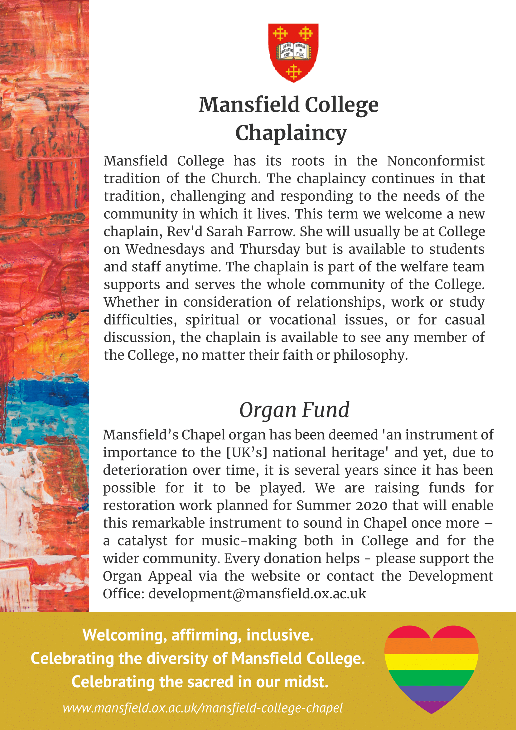 Mansfield College Chaplaincy