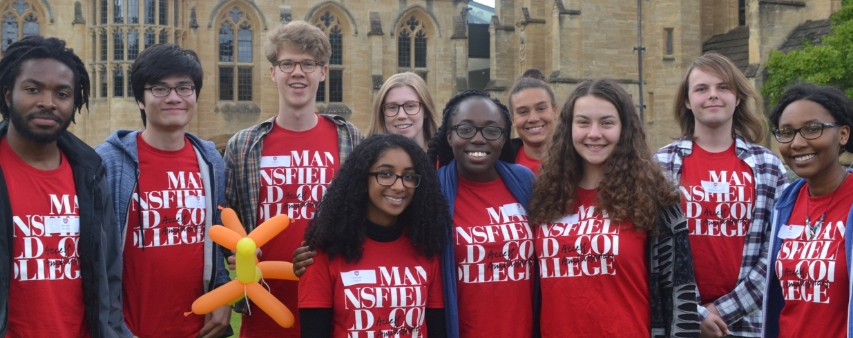Student volunteers at an Open Day