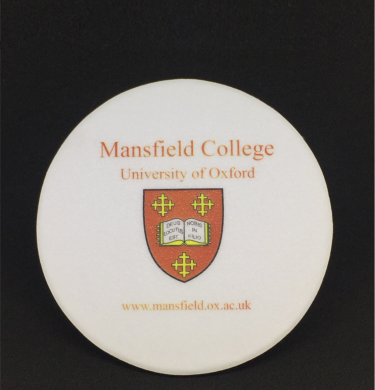 Mansfield College Leather Bonded Coaster