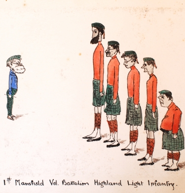 'Highland Light Infantry'. Dr A M Fairbairn with Academic Staff 1906