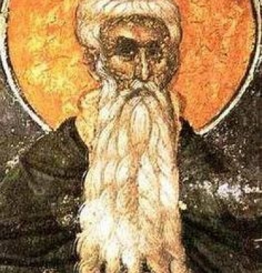 Links to an article on apothegms or sayings from 3rd and 4th century Christians who underwent isolation, and shows an image of one of these 'desert fathers'.
