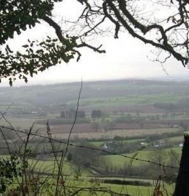 View of landscape in the Quantock Hills