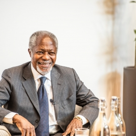 Mr Kofi Annan at the opening of the Bonavero Institute of Human Rights