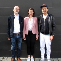 (Left to right) Simon Pummell, Victoria Siddall and Marc Quinn